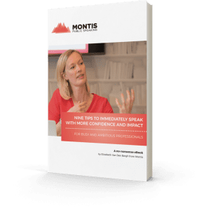 E-Book: 9 tips to immediately speak with more confidence and impact